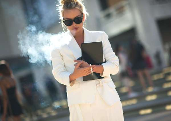The stylish androgynous white suit...