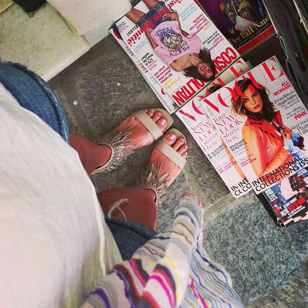 fashion magazines and sergio rossi sandals