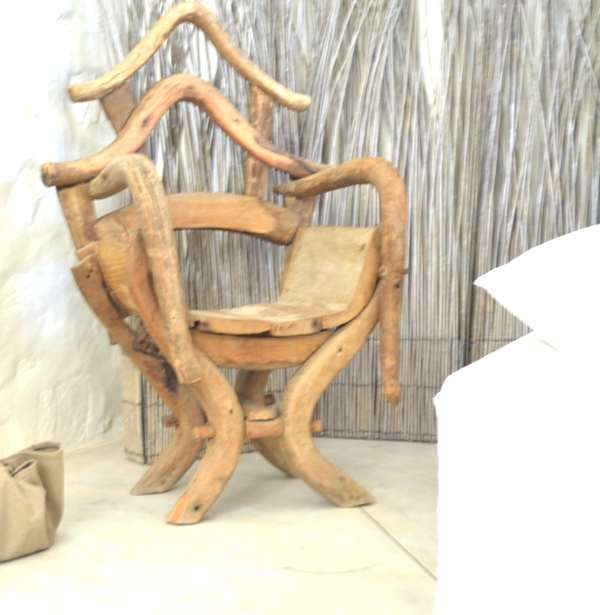 hand crafted vintage chair