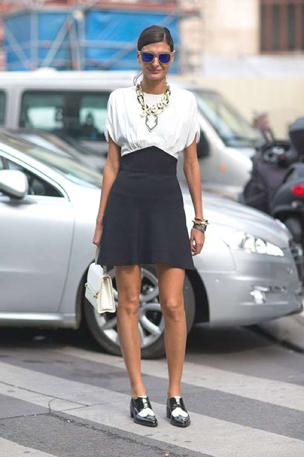 Giovanna Battaglia the queen of black and white outfits