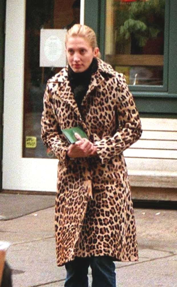 Carolyn Bessette Kennedy fur leopard coat
