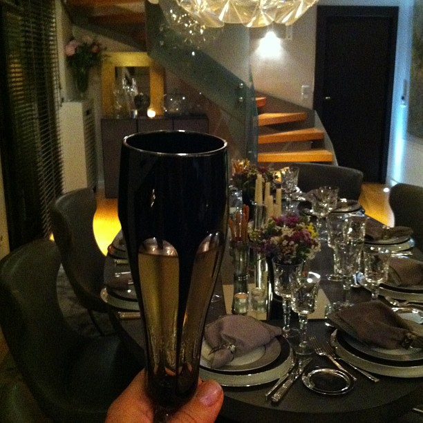 Cheers table setting