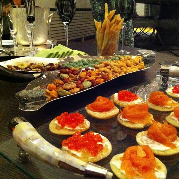Dinner canapes