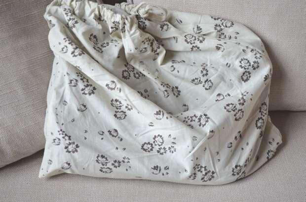 Floral embossed bag