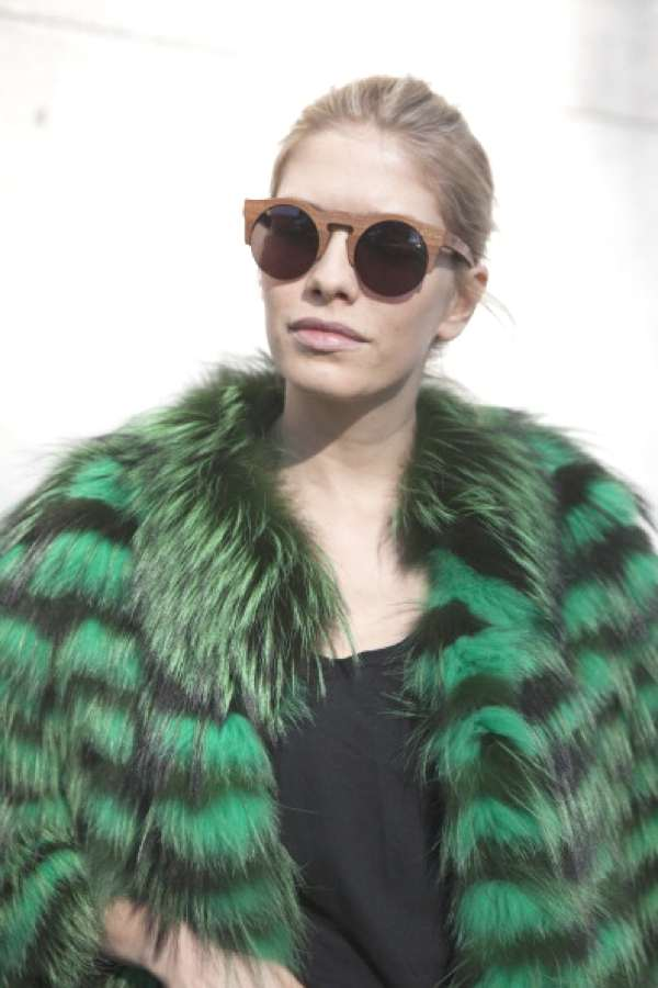 Fur coat green-Shopping Therapy- Fun Fashion Trends