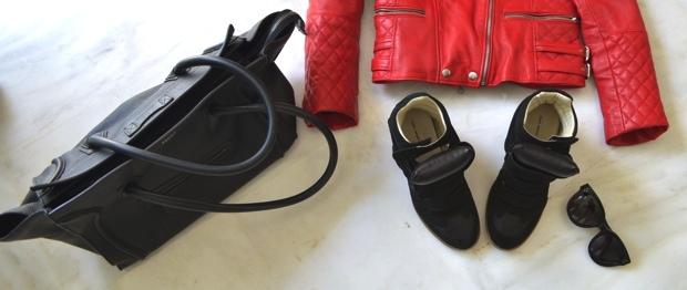 Isabel Marant hidden heel black sneakers