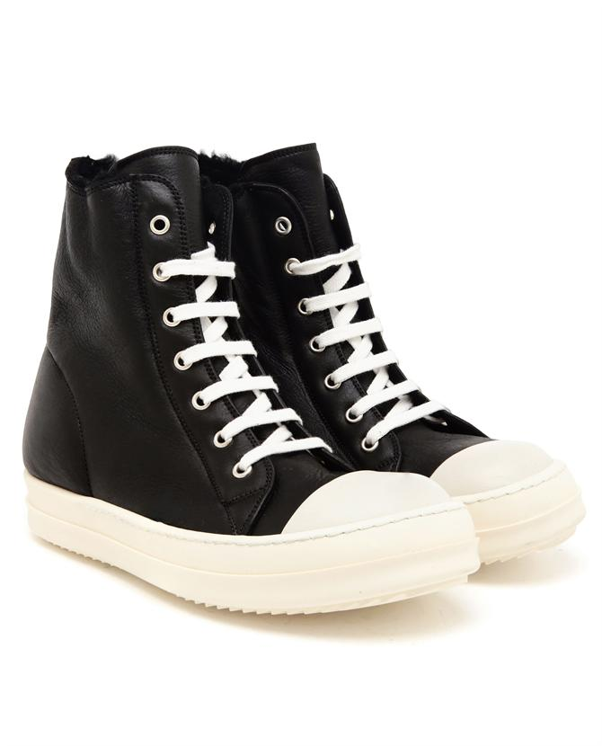 Rick Owens Hight top leather sneakers