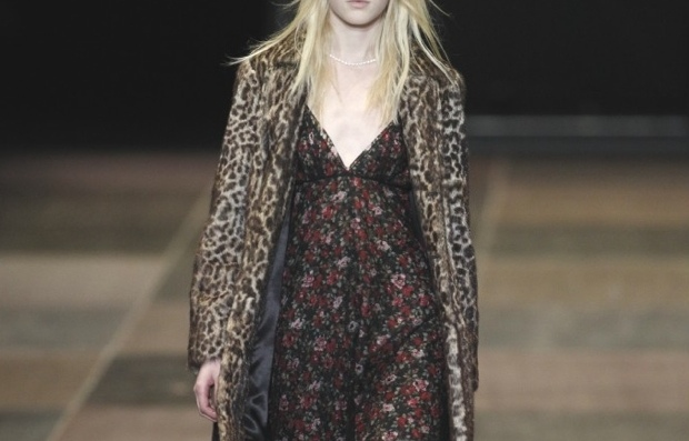 Saint-Laurant-floral-and-leopard-coat