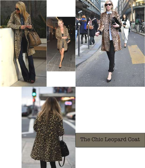 The chic leopard coat