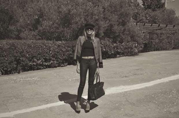 Trendsurvivor military hat Ungaro jacket Celine tote