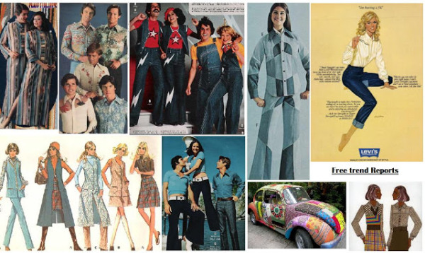 denim retro ads