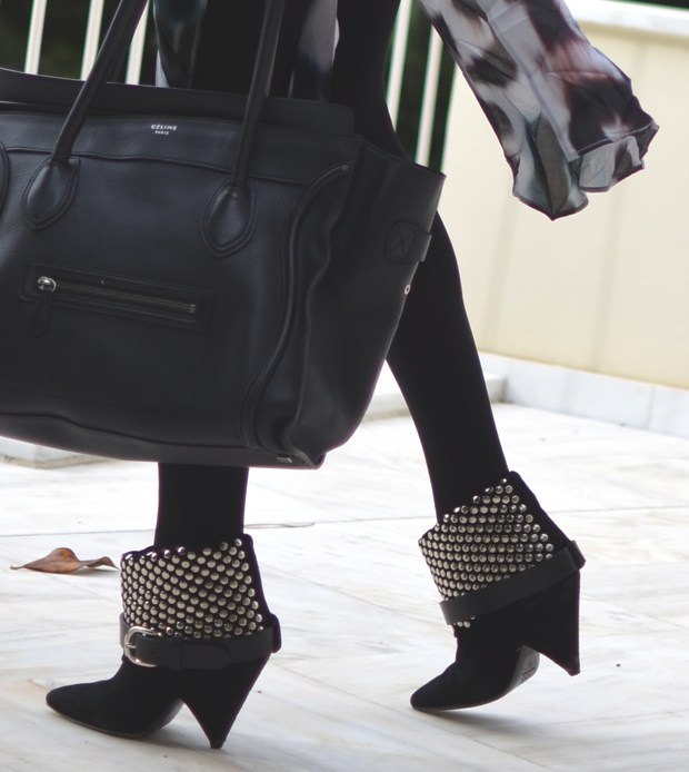 Celine Bag Isabel Marant studded boots