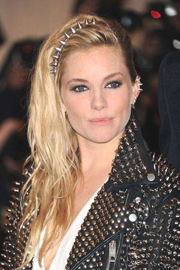 Sienna Miller punk inspired hairstyle