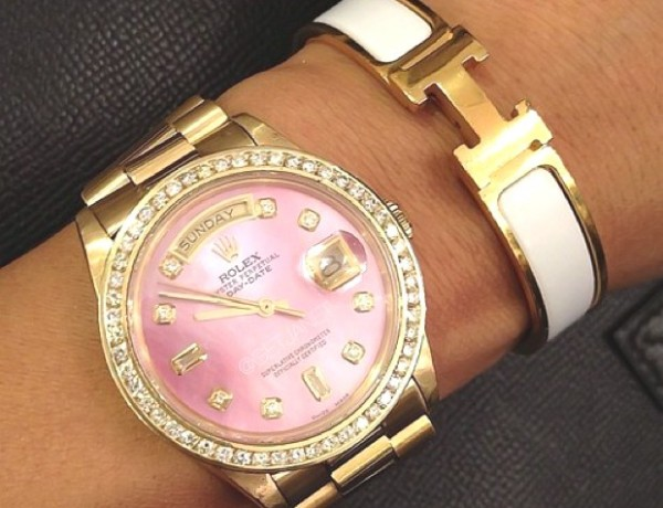 rolex Gold pink