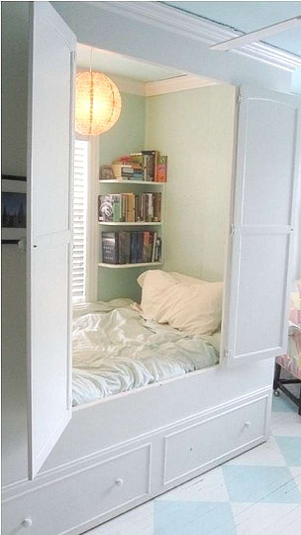 Cupboard bed for small spaces