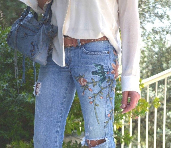 embroidered Abercrombie jeans