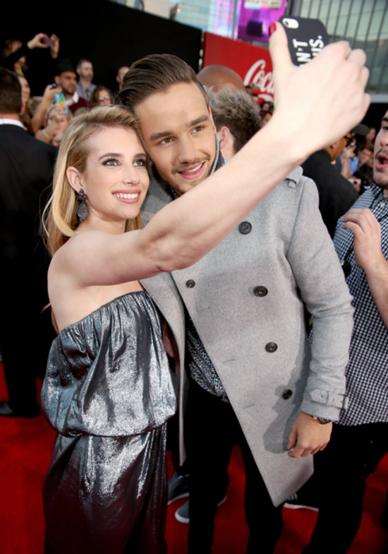 Emma Roberts posed with One Direction's Liam Payne