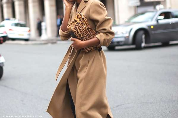 Leopard pag and camel coat