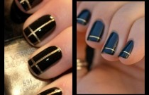 Party Nails Black and Gold