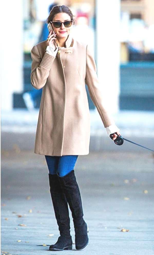 Olivia Palermo Classic camel coat 2013