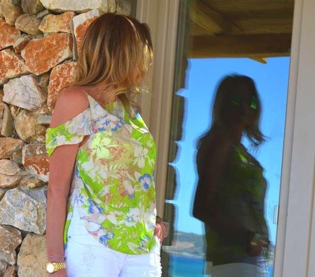 Vanessa Bruno green silk blouse