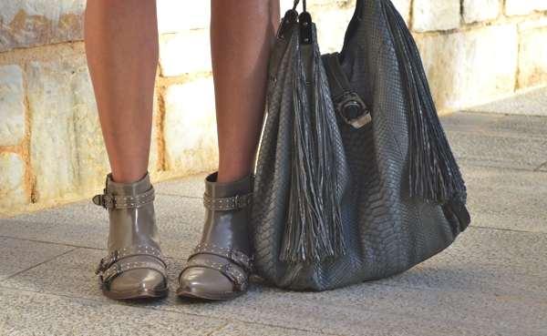 festval look, boots, fringe Celine bag