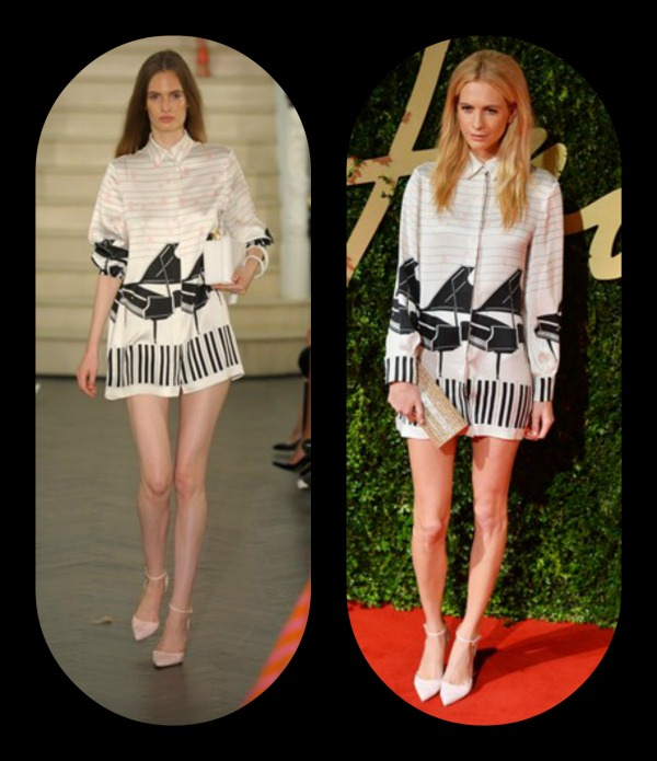Poppy Delevingne dress Emilia Wickstead spring:summer 2014 collection