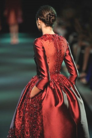 Red Dolce Gabbana gown