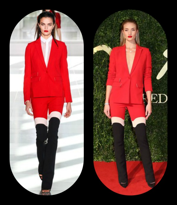 Rosie Huntington-Whiteley -Antonio Berardi trouser suit