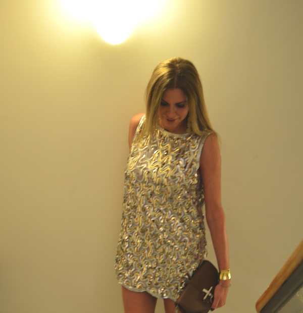 Sparkling Silver and Gold Sequin Dress Malene Birger