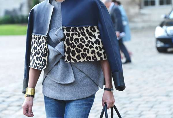 Tommy Ton, leopard leather jacket