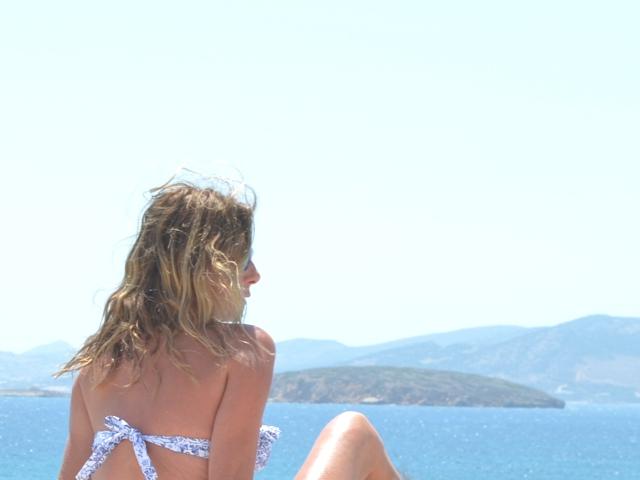 bikini blue, sea
