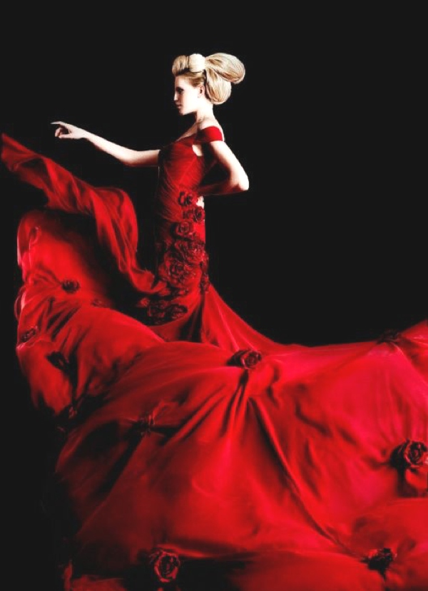 What to wear for New Year's Eve-Red gown
