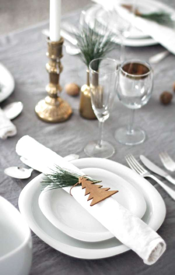 White Christmas decor details