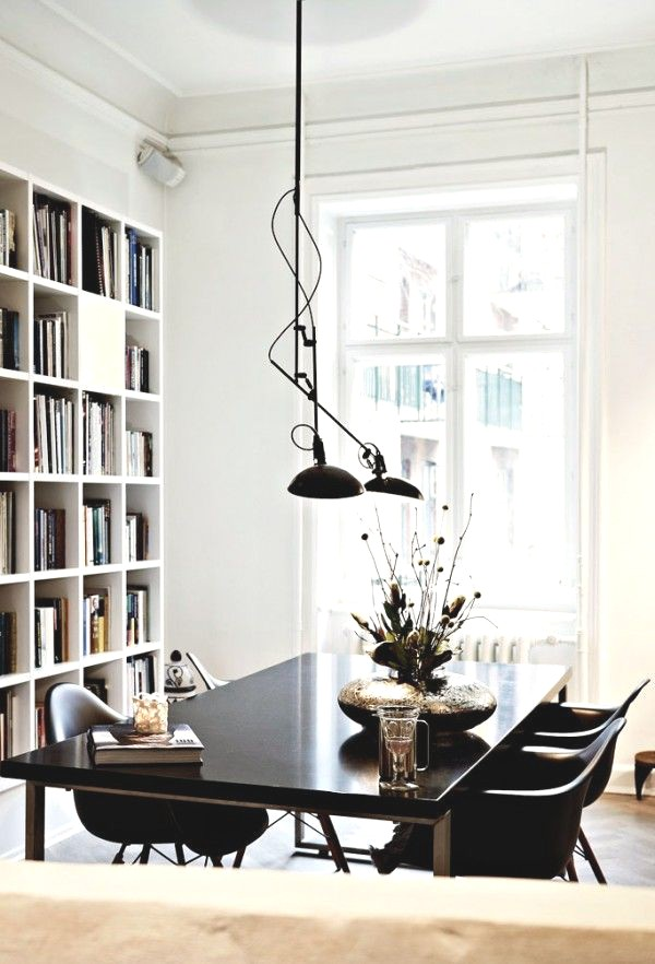 Black table home decor