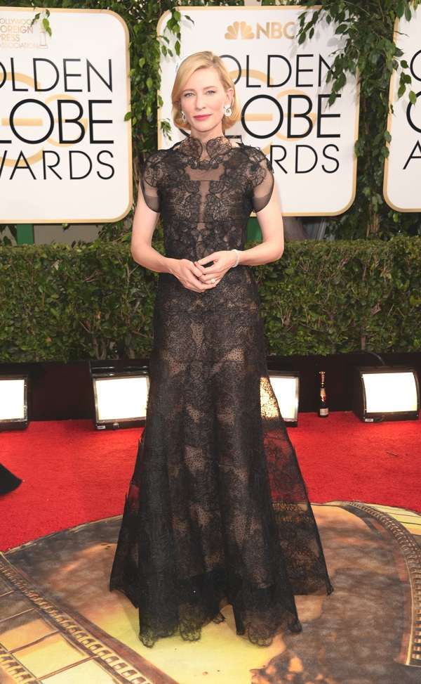 Cate Blanchett wears Chopard to the 71st Annual Golden Globe Awards