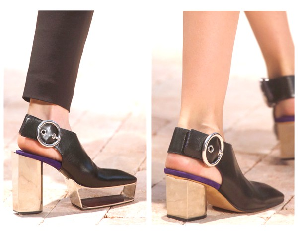 Céline SS14 leather platforms with buckle detail