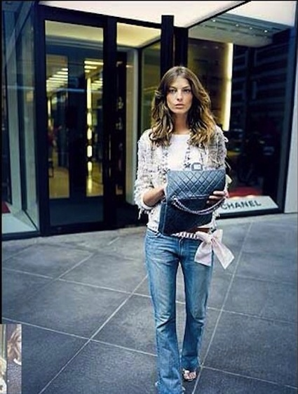 classic jeans look-Chanel and denim