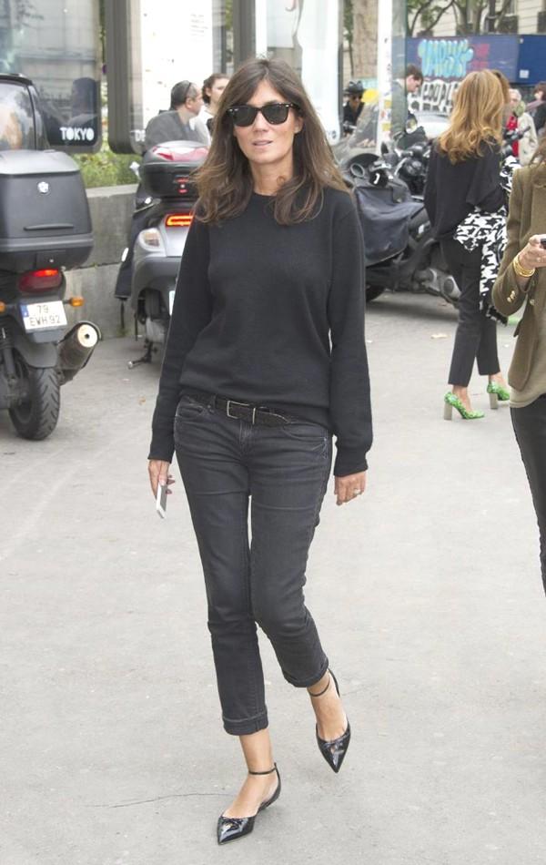 Emmanuelle Alt Style Du Monde: How To Wear Celebrity Style Perfect Fitting Denim