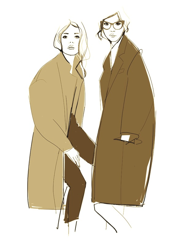 Garance Dore coat drawing