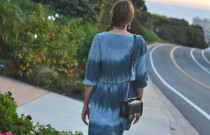 PS- Shades of blue-green Tie-dye dress in La Jolla