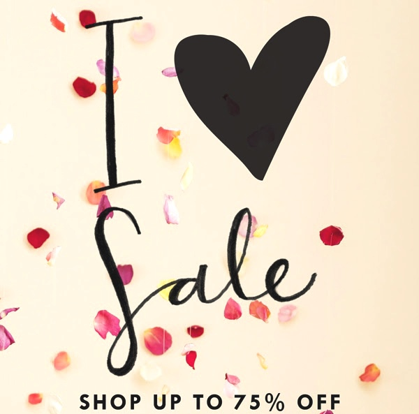I love sale graphic