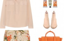 Icelle's Orange Floral Print Outfit