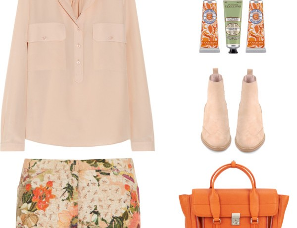 summer floral print outfit collage