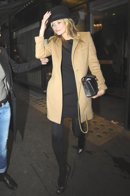 Kate Moss camel coat 2011