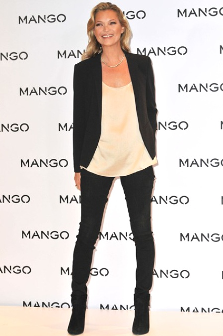Kate Moss's signature look  January 2012