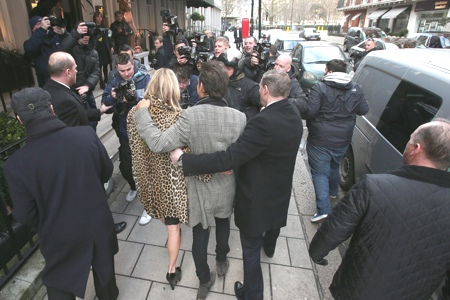 Kate moss 40th party street style