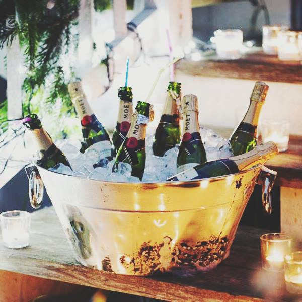 Moet Champagne Gold bucket