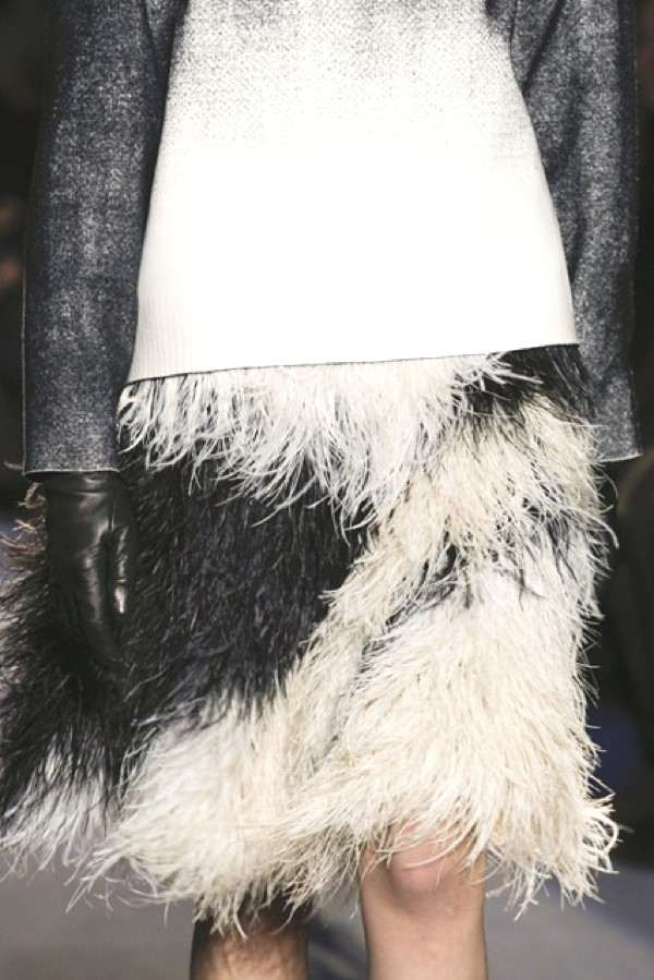 Proenza Schouler feather skirt