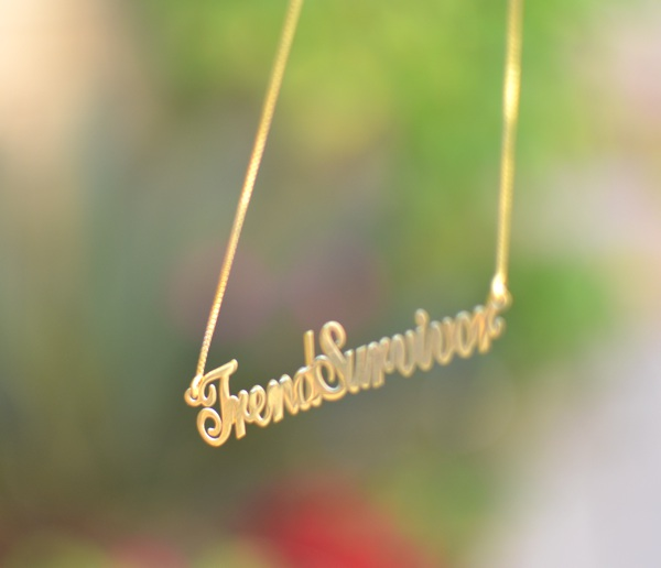 TrendSurvivor necklace.personalized